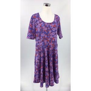 LularoeAmelia Dress Womens Plus Size 3XL Multi